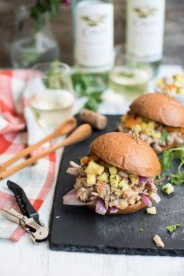 National Pinot Grigio Day: Hawaiian Pineapple and Pork Sandwiches