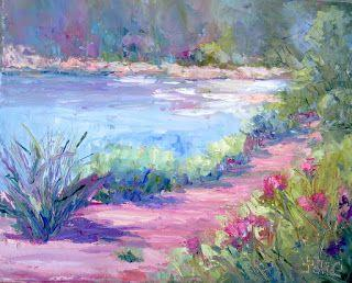 River Impressions, New Contemporary Landscape Painting by Sheri Jones