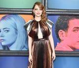 Emma Stone Shimmered Down the Red Carpet in Her Metallic Givenchy Gown