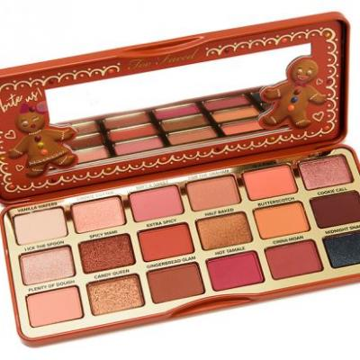 Too Faced Gingerbread Extra Spicy Palette Swatches