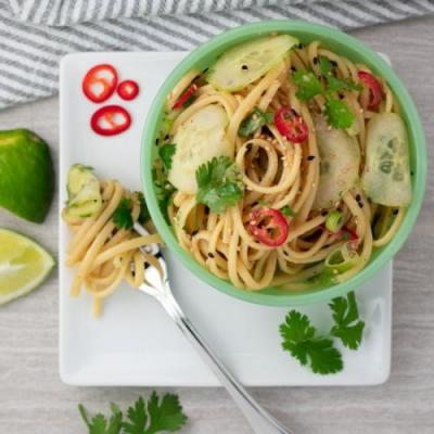 Red Chile & Cucumber Sesame Noodles