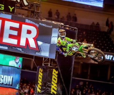 MONSTER ENERGY® KAWASAKI RIDER ELI TOMAC TURNS ST. LOUIS GREEN WITH DOMINANT 450SX MAIN EVENT