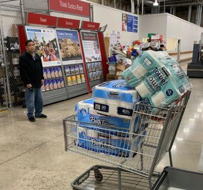 Some Costco stores are banning returns on items like toilet paper, soap, and rice as people panic-buy amid coronavirus fears