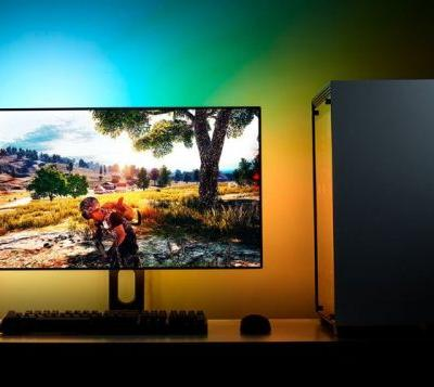 NZXT HUE 2 ambient behind screen LED RGB lighting kit powered by CAM