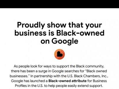 Google Maps and Search listings now show a Black-owned business attribute