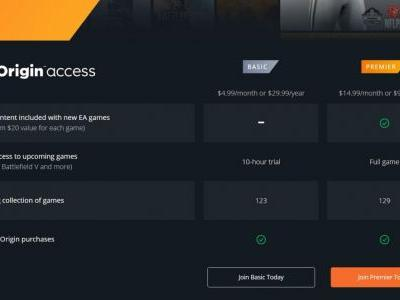 EA's Origin Access Premier PC subscription is live
