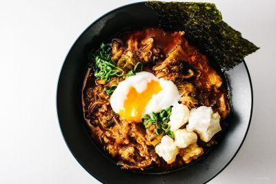 Kimchi Stew with Mochi and Egg Recipe