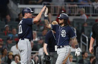 Renfroe hits go-ahead single, Galvis goes 5-for-5 as Padres defeat Braves