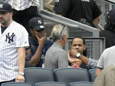 Girl hit by foul ball at Yankees game gets game's attention