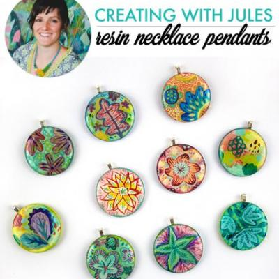 Creating with jules- resin necklace pendants