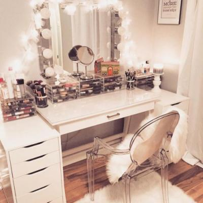 30 Awesome Desk and Vanity Combo Pics