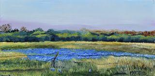 Sea of Blue, by Melissa A. Torres, 12x24 oil on canvas