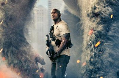 Meet George the Giant Ape in First Rampage PosterDwayne Johnson