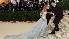 Shawn Mendes Sweetly Attended To Hailey Baldwin's Gown At The Met Gala