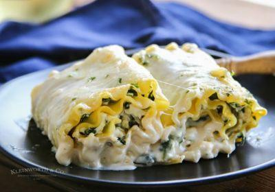 National Pinot Grigio Day: Chicken and Spinach Lasagna Roll-Ups