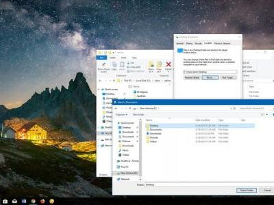 How to move Windows 10 default user folders to another drive
