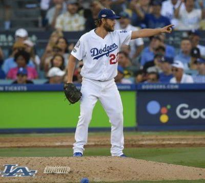 Kershaw dominant, Dodgers beat Brewers 5-2, lead NLCS 3-2