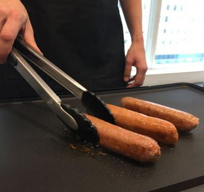 We tried the Bill Gates-backed veggie sausage that sizzles like real sausage - here's how it tastes