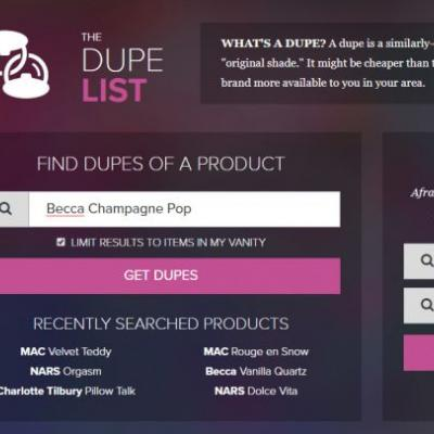 The Dupe List: Check Vanity for Dupes