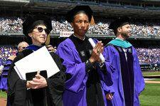 Pharrell Williams Delivers Inspirational Speech About Women's Rights at NYU Commencement