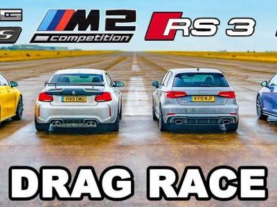 Mercedes-AMG A45 S Takes On VW Golf R, Audi RS3 and BMW M2 Competition