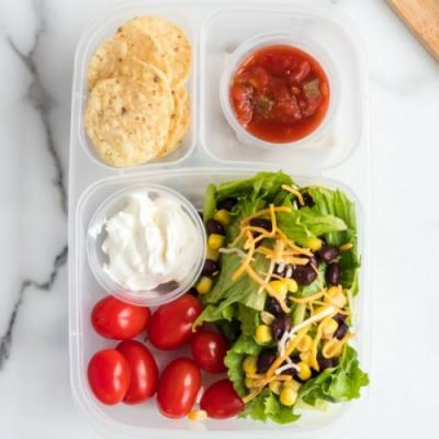 Healthy Taco Salad Lunchbox Idea