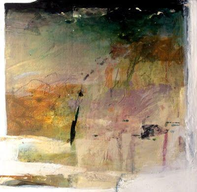 """Contemporary Mixed Media Abstract Painting """"Wind"""" by Intuitive Artist Joan Fullerton"""