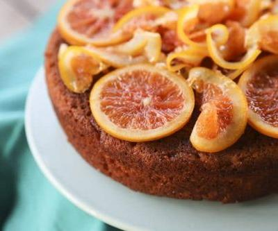 Orange Olive Oil Cake with Candied Oranges