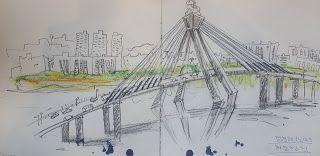 Sketches at Gangbyeon Techno Mart Sky Park