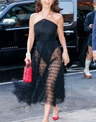 Bella Hadid Just Wore the Prettiest Version of the Naked Dress