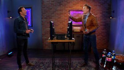 Conan O'Brien And Will Arnett Hurl Insults And Arms In Latest Clueless Gamer Segment