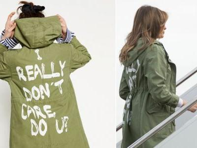 Melania Trump says the message on her controversial 'I really don't care, do U?' jacket was meant for 'the left-wing media who are criticizing me'