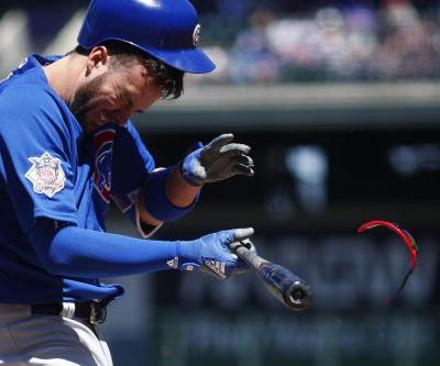 Cubs star takes a heater to the head in scary scene