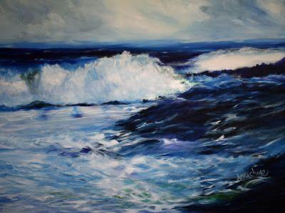 "Contemporary Seascape Painting ""Convergence"" by International Contemporary Seascape Artist Arrachme"