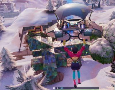 Fortnite: Fortbyte 19 - Accessible with the Vega outfit inside a spaceship building