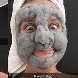 This Woman Shows Just How Fluffy Bubble Face Masks Can Get