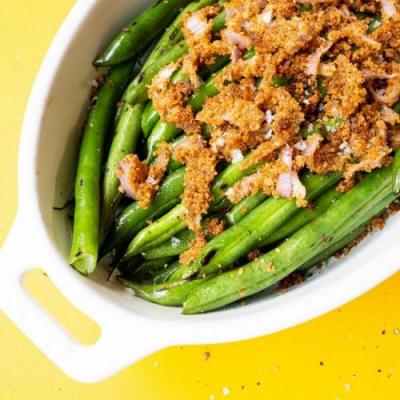 Double Onion Green Beans