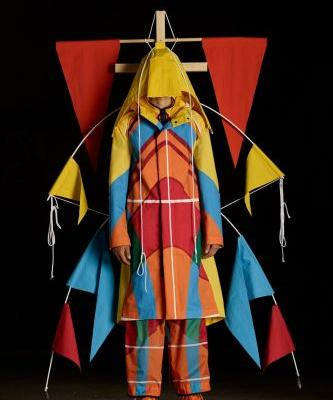 Watch moving sculptures model Craig Green's latest Moncler collection