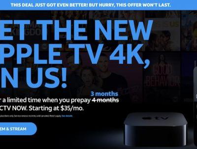 DirecTV Now Extends Apple TV 4K Deal with 3-Months Prepaid Service Through April
