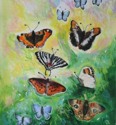 Butterflies, Four, by Caro Engles