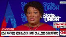 Stacey Abrams Slams Brian Kemp's 'Desperate' Hacking Claim Against Georgia Democrats