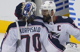 Blue Jackets blank Maple Leafs 3-0 to advance to first round of playoffs