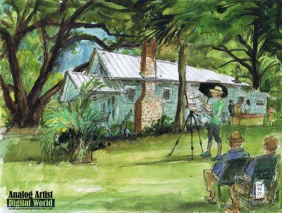 Plein Air Painting Demo at the Kerouac House