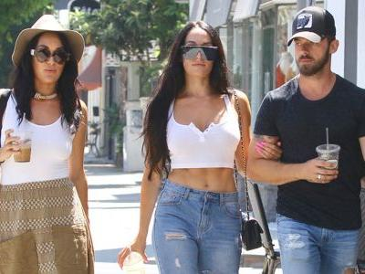 Nikki Bella and Artem Chigvintsev Grab Lunch With Her Twin Sister Brie in Los Angeles