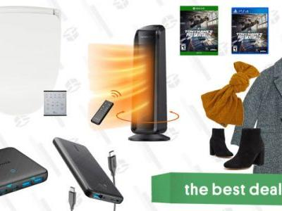 Sunday's Best Deals: Bio Bidet Seats, ASOS Fall Apparel, Anker Charging Accessories, TaoTronics Oscillating Heater, and More