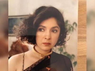 Neena Gupta shares 25-year-old pic in sheer saree and short hair. Proves she is a fashion icon