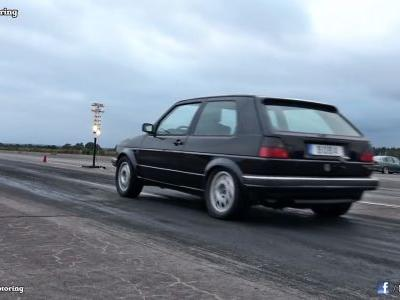 This 1,233 HP Volkswagen Mk2 Golf Looks Like It Warps Time