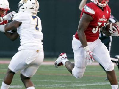 Bobby Petrino offers a look at Louisville's running back corps following spring camp