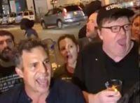 After Broadway Show, Michael Moore Leads Audience To Trump Tower For Protest