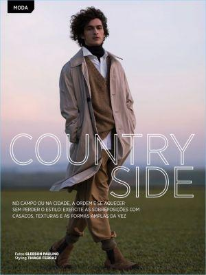 Country Side: Julio Reis Sports Chic Fall Fashions for GQ Brasil